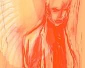 Still Always Art Print Angel Illustration Drawing