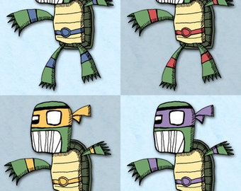 Art Print Teenage Mutant Ninja Turtles Illustration