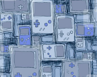 Game Boys Nintendo Video Game Art Print Illustration