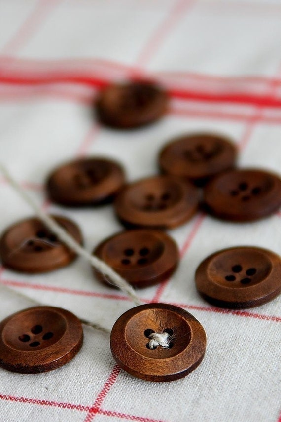 Natural Wooden Button Set - 10p(WB001) - FREE SHIPPING if shipped with another item