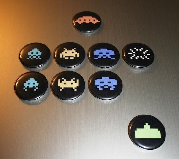 Space Invaders Magnet Set