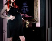 Maternity Dress Gothic Pin Up & Rockabilly Spider Web Charmer from MamaSan Maternity - FREE SHIPPING