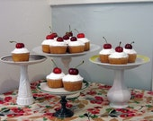 Recycled Cakestand - small green