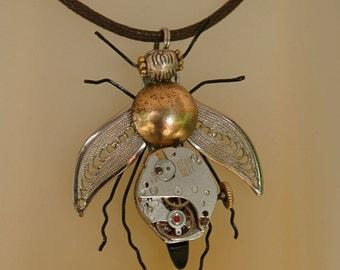 Steampunk Pendant Tutorial Clockwork Bee
