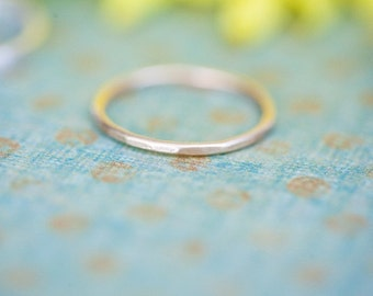 Single 14K Goldfill Sandblasted Ring