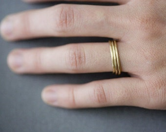 14K Gold Fill Stacking Ring SET