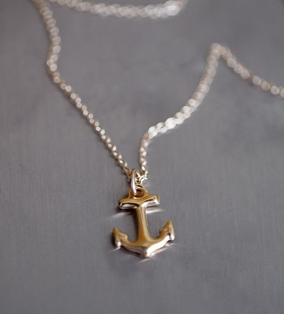 Featured in Elle 14k Gold Vermeil Anchor Necklace