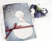 Snowflake set of 4 greeting cards