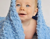 Soft and Fluffy Toddler/Child Blanket, Wrap - Baby Boy Blue - Great Photography Prop