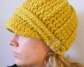 Womens Hat Yellow Womens Hat Citron Womens Hat Womens Beanie Yellow Hat Yellow Beanie Citron Hat Citron Beanie Womens Cap Yellow Cap Buckle