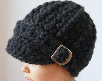 Toddler Hat 1T to 2T Toddler Girl Hat Toddler Boy Hat Toddler Girl Clothes Toddler Boy Clothes Charcoal Gray Winter Hat Fall Buckle Beanie