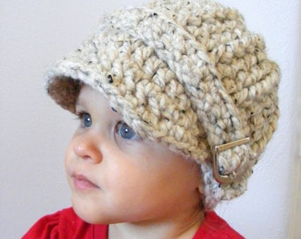 Toddler Hat 1T to 2T Toddler Girl Hat Toddler Boy Hat Oatmeal Hat Crochet Winter Hat Buckle Beanie Toddler Girl Clothes Toddler Boy Clothes