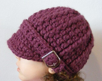 Toddler Girl Hat 2T to 4T Purple Plum Toddler Hat Purple Toddler Hat Toddler Girl Clothes Chunky Crochet Winter Hat Thick Toddler Beanie