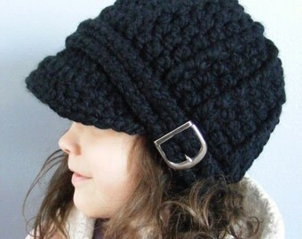 Toddler Hat 2T to 4T Toddler Girl Hat Toddler Boy Hat Crochet Winter Hat Buckle Beanie Black Toddler Hat Toddler Clothes Toddler Clothing