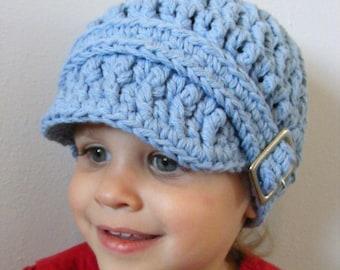 Toddler Hat 1T to 2T Toddler Boy Hat Toddler Girl Hat Toddler Boy Clothes Toddler Girl Clothes Light Blue Toddler Hat Crochet Winter Hat