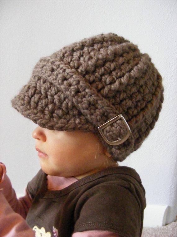 Toddler Hat 1T to 2T Toddler Girl Hat Toddler Boy Hat Toddler Girl Clothes Toddler Boy Clothes Taupe Hat Light Brown Hat Crochet Winter Hat