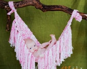 Fringe Hammock Knitting Pattern, PDF 103, INSTANT DOWNLOAD -- Newborn Photo Prop -- Very Easy -- Over 16,000 Patterns Sold
