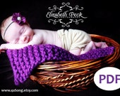 Mini Blanket Photo Prop Knitting Pattern PDF Number 123 -- INSTANT DOWNLOAD -- Beginner Project -- Over 35,000 patterns sold