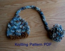 Long Tail Baby Hat Knitting Pattern, PDF Number 302, INSTANT DOWNLOAD -- for Thick Thin Yarn -- Over 35,000 patterns sold