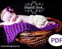 Mini Blanket Photo Prop Knitting Pattern PDF Number 123 -- INSTANT DOWNLOAD -- Beginner Project -- Over 35,000 patterns sold