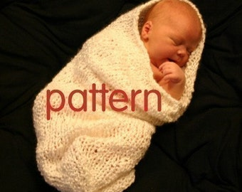 Baby Cocoon and Bowl Knitting Pattern in Plain English -- Two Patterns in One, PDF Number 101, INSTANT DOWNLOAD