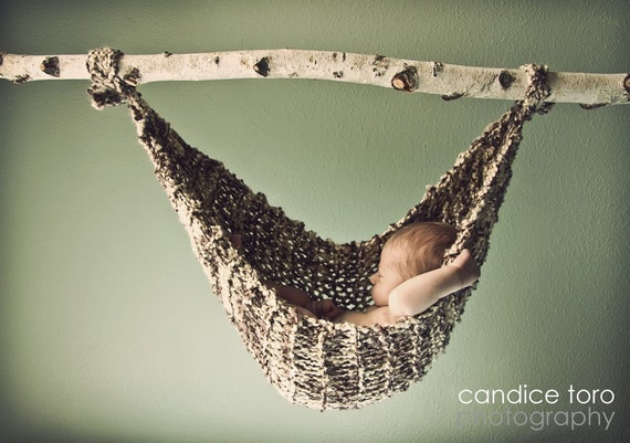 "Baby Hammock - Newborn Photo Prop  - ""Birch"" - Ready to Ship -  RTS - Original Designer - Over 800 sold"
