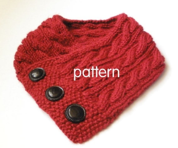 Selling Knitting Patterns : Cabled Neckwarmer Knitting Pattern PDF with permission to