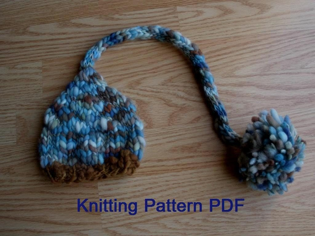 Knitting Pattern Numbers : Long Tail Baby Hat Knitting Pattern PDF Number 302 INSTANT