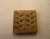 Wood Button Zigzag