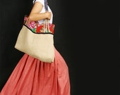 RED POCKET LONG SKIRT (coral) less is more line (Q1001)