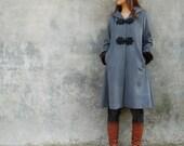 Russian doll cashmere hood long coat (Y1029)