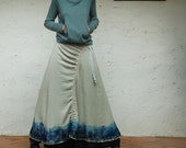 Chinese ink and wash painting layered skirt (Q1103)