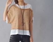 Quiet Summer 2 -  layered cotton top (Y1212)