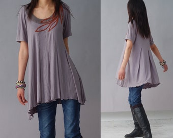 Loneliness is singing - hand embroidery top (Y1208)