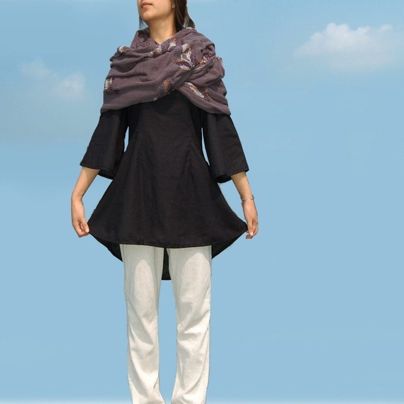 Feather - shawl and blouse set (Y1018)