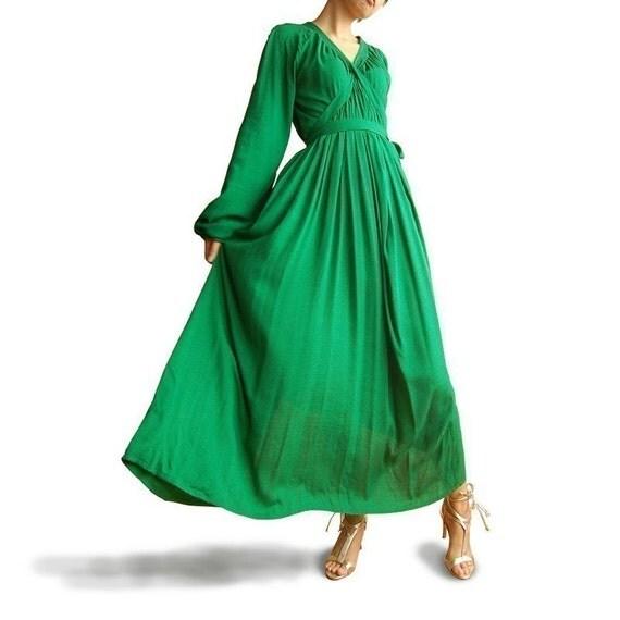 Green Sleeves 2 long dress (Q1005)for Ma...va