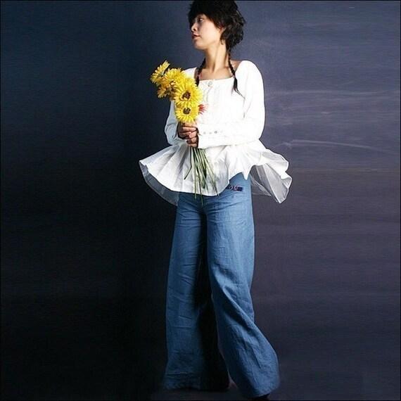 Pearl - silky linen shirt (Y1001)