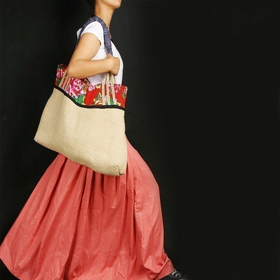 Last One - RED POCKET long skirt (coral) less is more line (Q1001)