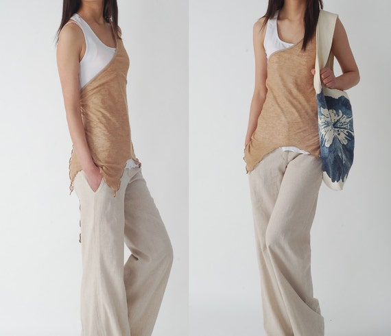 Less is More - top quality linen pants (K1201)