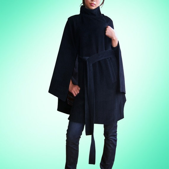 ONE FINE DAY cashmere pocho coat