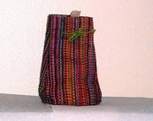 3 Multicolor Raffia Bags from Madagascar