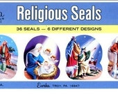 Vintage Eureka Gummed Christmas Seals - Original Package