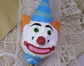 Clown Maraca Head - Second Quality - for Altered Art Projects and More - Paper Mache