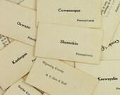 Packet of 12 Vintage Train Station Flash Cards