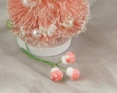 Teensy (10mm) Spun Cotton Pink-Topped Amanita Mushrooms - Bundle of 12