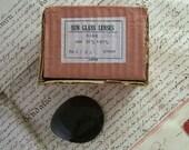 Vintage box of Teardrop Glass Lenses in Dark Smoke Grey - 36 in Original Box