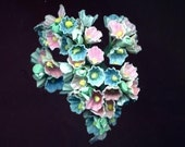 Vintage Pastel Bouquet of Forget-Me-Nots - Pink and Blue - for Baby - for Easter - for Spring