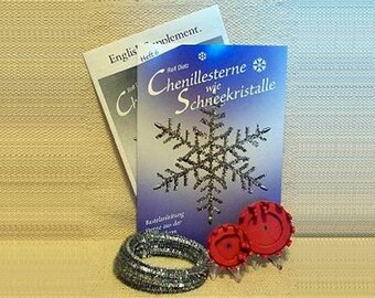 Old Fashioned Silvery Lametta Tinsel Star Kit from Germany