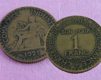 A franc (or 2 or 3) for your thoughts.... - 2 Vintage French Francs