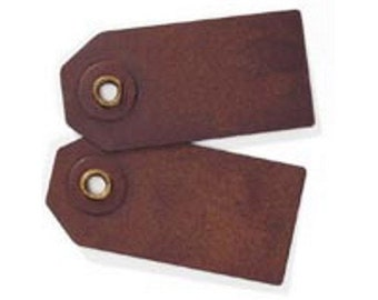 Mini Rusty Metal Tags - Package of 5